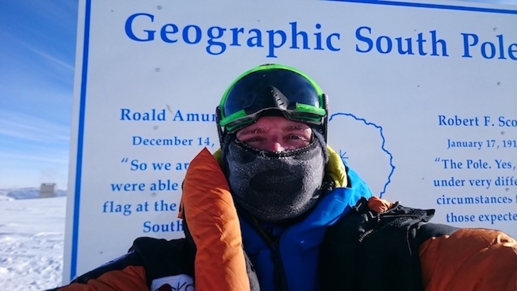 Sean Swarner at South Pole